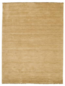 Handloom Fringes - Beige Vloerkleed 160X230 Modern Donkerbeige/Lichtbruin (Wol, India)