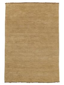 Handloom Fringes - Beige Vloerkleed 140X200 Modern Donkerbeige/Lichtbruin (Wol, India)