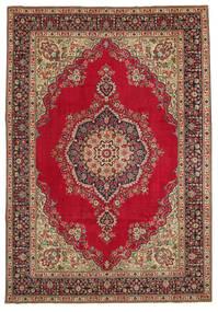 Tabriz Patina Vloerkleed 245X353 Echt Oosters Handgeknoopt Donkerbruin/Donkerrood (Wol, Perzië/Iran)