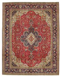 Tabriz Patina Vloerkleed 300X384 Echt Oosters Handgeknoopt Donkerbruin/Roestkleur Groot (Wol, Perzië/Iran)