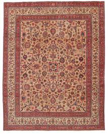 Mashad Patina Getekend: Amoghli Vloerkleed 287X370 Echt Oosters Handgeknoopt Roestkleur/Donkerrood Groot (Wol, Perzië/Iran)