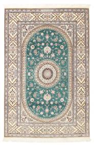 Nain 6La Habibian Vloerkleed 120X185 Echt Oosters Handgeknoopt Lichtgrijs/Wit/Creme (Wol/Zijde, Perzië/Iran)