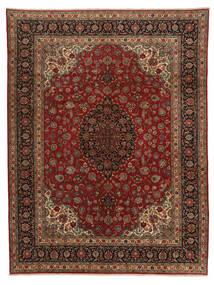 Ghom Kork Vloerkleed 298X390 Echt Oosters Handgeknoopt Donkerbruin/Bruin Groot (Wol, Perzië/Iran)
