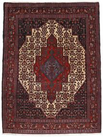 Senneh Vloerkleed 125X167 Echt Oosters Handgeknoopt Donkerrood/Donkerbruin (Wol, Perzië/Iran)