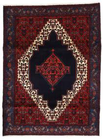Senneh Vloerkleed 127X170 Echt Oosters Handgeknoopt Zwart/Donkerrood (Wol, Perzië/Iran)
