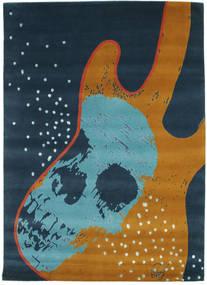 From Obscure Rythms Vloerkleed 155X220 Echt Modern Handgeknoopt Donkerblauw/Turquoise Blauw (Wol, India)