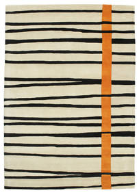 Gummi Twist Handtufted - Oranje Vloerkleed 160X230 Modern Donkerbeige/Beige/Zwart (Wol, India)