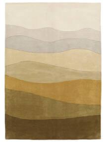 Feeling Handtufted - Bruin Vloerkleed 160X230 Modern Donkerbeige/Olijfgroen (Wol, India)