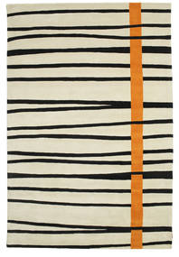 Gummi Twist Handtufted - Oranje Vloerkleed 200X300 Modern Donkerbeige/Zwart (Wol, India)