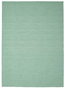 Kelim Loom - Mint Groen Vloerkleed 250X350 Echt Modern Handgeweven Pastel Groen/Turquoise Blauw Groot (Wol, India)