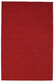 Kelim Loom - Donkerrood Vloerkleed 160X230 Echt Modern Handgeweven Rood (Wol, India)