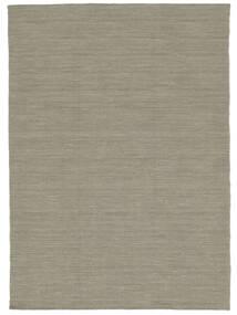 Kelim Loom - Lichtgrijs/Beige Vloerkleed 160X230 Echt Modern Handgeweven Lichtgrijs (Wol, India)