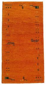 Gabbeh Indiaas Vloerkleed 71X140 Echt Modern Handgeknoopt Oranje/Lichtbruin (Wol, India)