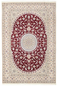 Nain 6La Habibian Vloerkleed 200X296 Echt Oosters Handgeknoopt Lichtgrijs/Wit/Creme (Wol/Zijde, Perzië/Iran)