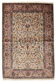 Keshan Zijde Vloerkleed 100X153 Echt Oosters Handgeknoopt Beige/Lichtbruin (Zijde, Perzië/Iran)