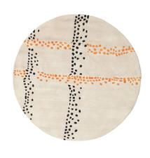 Delight Handtufted - Oranje Vloerkleed Ø 150 Modern Rond Beige/Lichtgrijs (Wol, India)