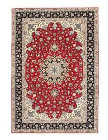 Tabriz 50 Raj Zijden Pool Vloerkleed 200X310 Echt Oosters Handgeknoopt Lichtgrijs/Donkergrijs (Wol/Zijde, Perzië/Iran)