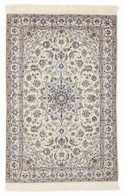 Nain 6La Vloerkleed 103X153 Echt Oosters Handgeknoopt Lichtgrijs/Beige/Wit/Creme (Wol/Zijde, Perzië/Iran)