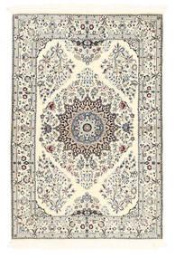 Nain 6La Vloerkleed 100X150 Echt Oosters Handgeknoopt Beige/Lichtgrijs (Wol/Zijde, Perzië/Iran)