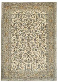 Keshan Patina Getekend: Tabatabai Vloerkleed 275X390 Echt Oosters Handgeknoopt Beige/Donkergrijs Groot (Wol, Perzië/Iran)