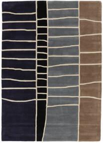 Abstract Bamboe Handtufted Vloerkleed 160X230 Modern Donkerpaars/Lichtgrijs (Wol, India)