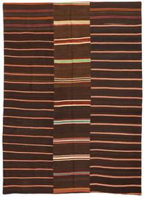 Kelim Patchwork Vloerkleed 175X241 Echt Modern Handgeweven Donkerbruin/Donkerrood (Wol, Turkije)