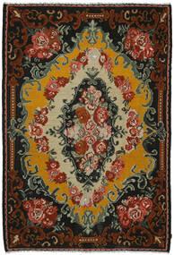 Rozenkelim Vloerkleed 221X321 Echt Oosters Handgeweven Zwart/Donkerbruin (Wol, Moldavië)