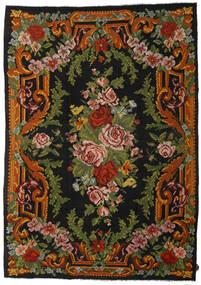 Rozenkelim Vloerkleed 247X347 Echt Oosters Handgeweven Zwart/Donkergroen (Wol, Moldavië)