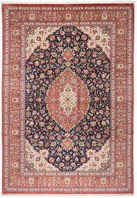 Ghom Zijde Vloerkleed 240X348 Echt Oosters Handgeknoopt Bruin/Beige (Zijde, Perzië/Iran)