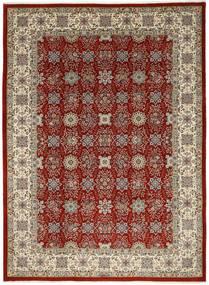 Ilam Sherkat Farsh Zijde Vloerkleed 250X348 Echt Oosters Handgeknoopt Lichtgrijs/Donkerrood Groot (Wol/Zijde, Perzië/Iran)