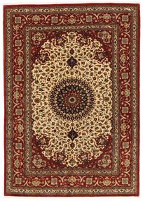 Ghom Kork/Zijde Vloerkleed 137X197 Echt Oosters Handgeknoopt Donkerbruin/Donkerrood (Wol/Zijde, Perzië/Iran)