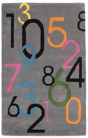 Lucky Numbers - Grijs Vloerkleed 100X160 Modern Donkerbruin/Donkergrijs (Wol, India)