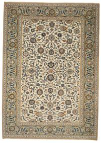 Keshan Patina Vloerkleed 214X302 Echt Oosters Handgeknoopt Lichtbruin/Lichtgrijs (Wol, Perzië/Iran)