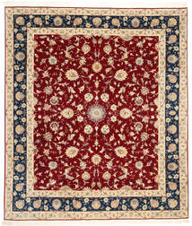Tabriz 50 Raj Met Zijde Vloerkleed 250X295 Echt Oosters Handgeknoopt Donkerrood/Beige Groot (Wol/Zijde, Perzië/Iran)