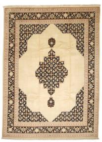 Tabriz 50 Raj Met Zijde Vloerkleed 250X338 Echt Oosters Handgeknoopt Donkerbeige/Beige Groot (Wol/Zijde, Perzië/Iran)