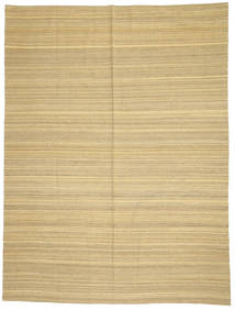Kelim Moderne Vloerkleed 214X285 Echt Modern Handgeweven Donkerbeige/Beige (Wol, Afghanistan)