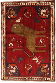 Ghashghai Vloerkleed 131X192 Echt Oosters Handgeknoopt Roestkleur/Rood (Wol, Perzië/Iran)