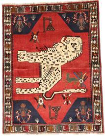 Ghashghai Vloerkleed 121X159 Echt Oosters Handgeknoopt Donkerbruin/Beige (Wol, Perzië/Iran)
