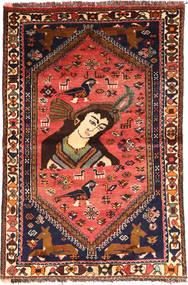 Ghashghai Vloerkleed 105X160 Echt Oosters Handgeknoopt Donkerbruin/Zwart (Wol, Perzië/Iran)