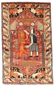 Ghashghai Vloerkleed 103X169 Echt Oosters Handgeknoopt Donkerbruin/Donkerrood (Wol, Perzië/Iran)