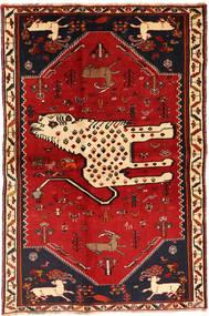 Ghashghai Vloerkleed 134X211 Echt Oosters Handgeknoopt Donkerrood/Roestkleur (Wol, Perzië/Iran)