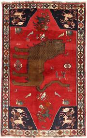 Ghashghai Vloerkleed 129X208 Echt Oosters Handgeknoopt Roestkleur/Donkerrood (Wol, Perzië/Iran)