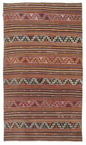 Kelim Semi-Antiek Turkije Vloerkleed 166X290 Echt Oosters Handgeweven Donkerrood/Lichtbruin (Wol, Turkije)