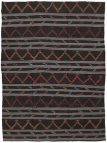 Kelim Semi-Antiek Turkije Vloerkleed 239X323 Echt Oosters Handgeweven Zwart/Donkergrijs (Wol, Turkije)