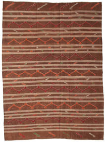 Kelim Semi-Antiek Turkije Vloerkleed 244X333 Echt Oosters Handgeweven Donkerbruin/Donkerrood/Bruin (Wol, Turkije)