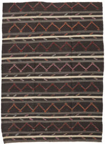 Kelim Semi-Antiek Turkije Vloerkleed 232X337 Echt Oosters Handgeweven Donkerbruin (Wol, Turkije)
