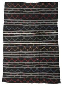 Kelim Semi-Antiek Turkije Vloerkleed 245X340 Echt Oosters Handgeweven Zwart/Donkergrijs (Wol, Turkije)
