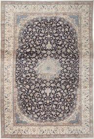Nain 9La Vloerkleed 408X610 Echt Oosters Handgeknoopt Lichtgrijs/Donkergrijs Groot (Wol/Zijde, Perzië/Iran)