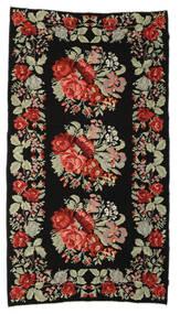 Rozenkelim Moldavia Vloerkleed 174X321 Echt Oosters Handgeweven Zwart/Donkerbruin (Wol, Moldavië)