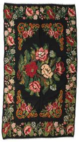 Rozenkelim Moldavia Vloerkleed 176X338 Echt Oosters Handgeweven Zwart/Donkergroen (Wol, Moldavië)